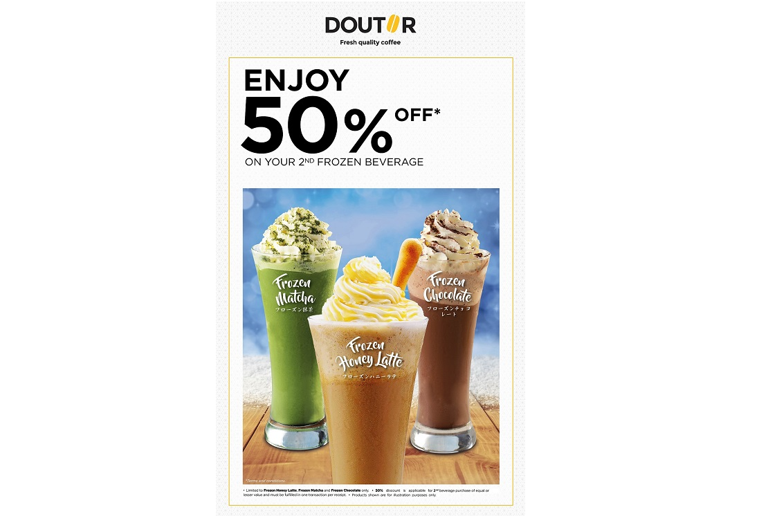 Enjoy 50% Off On Your 2nd Frozen Beverage